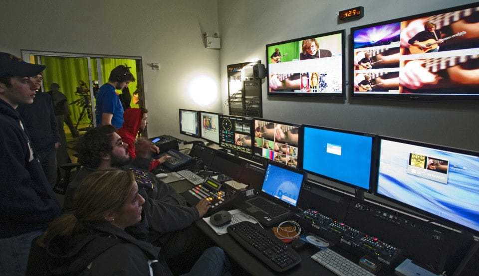Video Production Crew in Control room
